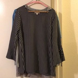 Beautiful Faith and Joy XL bell sleeve blouse
